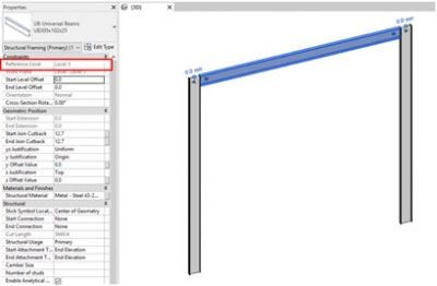How-to-change-the-Reference-Level-of-a-Beam-in-Revit-Result